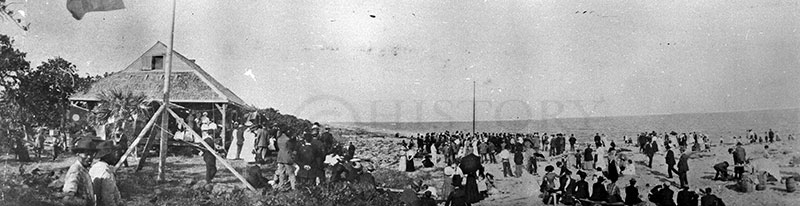 historical photo on Fort Lauderdale beach
